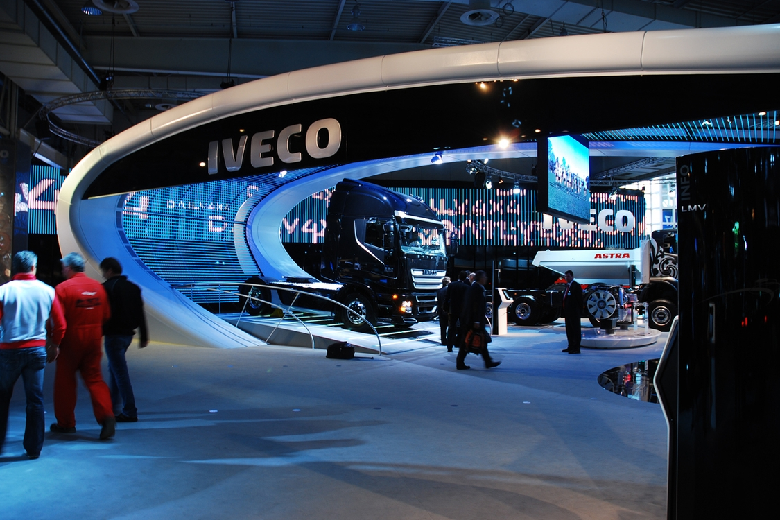 Iveco exhibition  4.000 sqm at the IAA  Trade Fair for Mobility