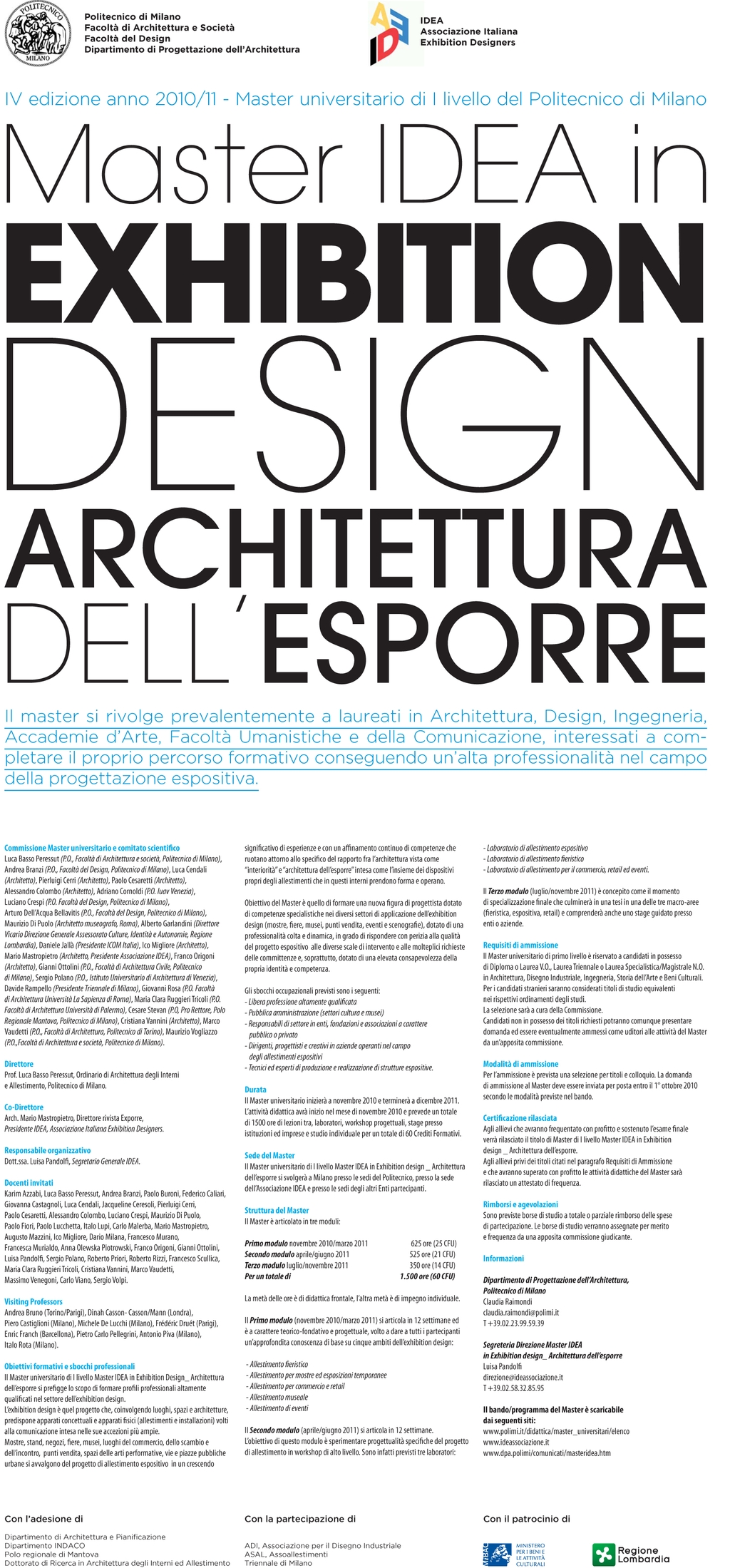 MASTER IDEA IN EXHIBITION DESIGN 10/11