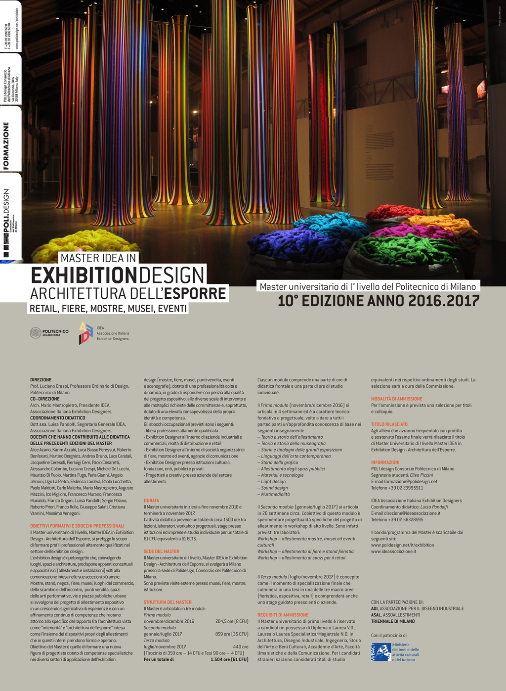 MASTER IDEA IN EXHIBITION DESIGN: AL VIA LA DECIMA EDIZIONE 16/17